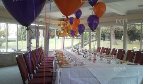 purple n orange party